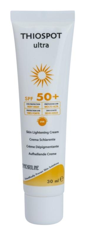 Synchroline Thiospot Ultra rozjasňující krém pro pleť s hyperpigmentací SPF50+