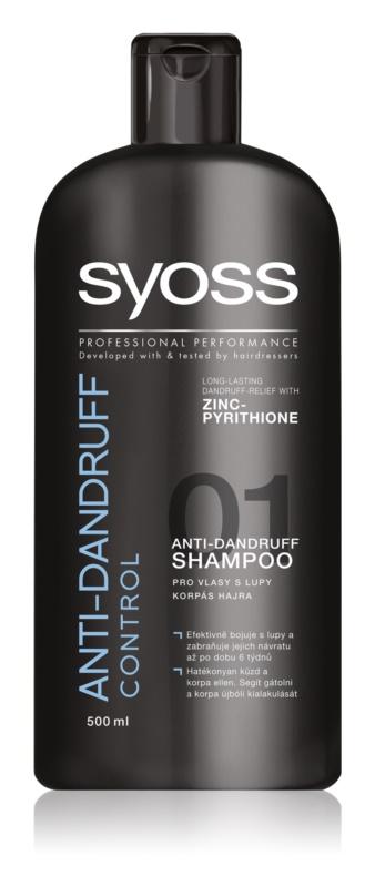 syoss anti dandruff control shampoo gegen schuppen. Black Bedroom Furniture Sets. Home Design Ideas