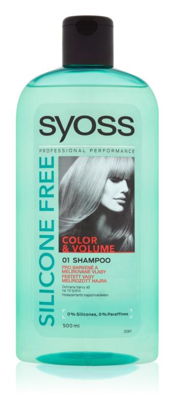 Syoss Silicone Free Color & Volume champú para cabello teñido y con mechas