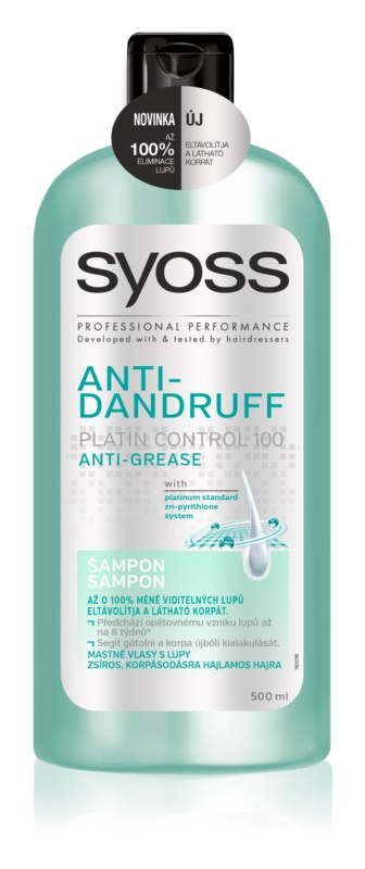 syoss anti dandruff platin control 100 shampoo gegen. Black Bedroom Furniture Sets. Home Design Ideas