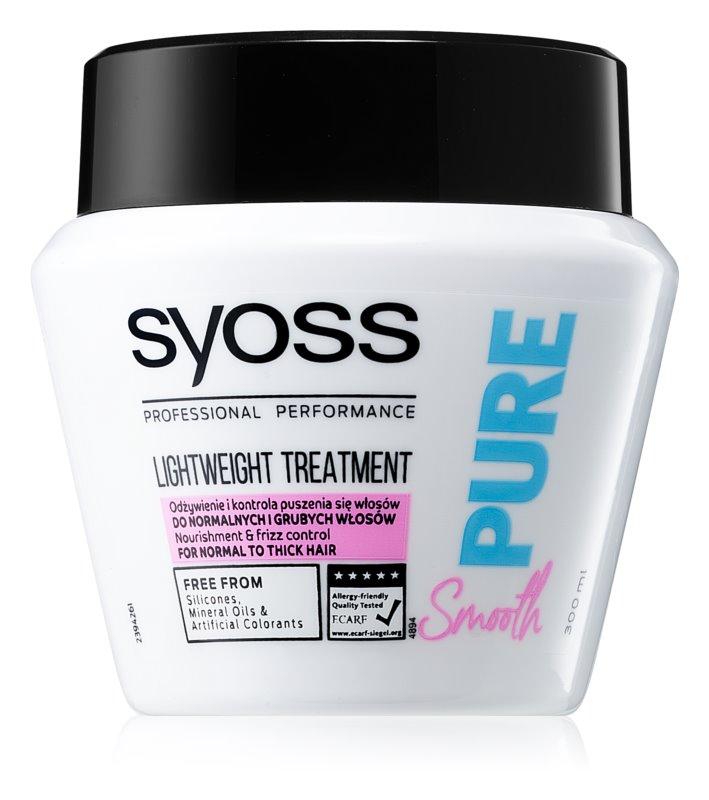 Syoss Pure Smooth hranilna maska za gladke in sijoče lase