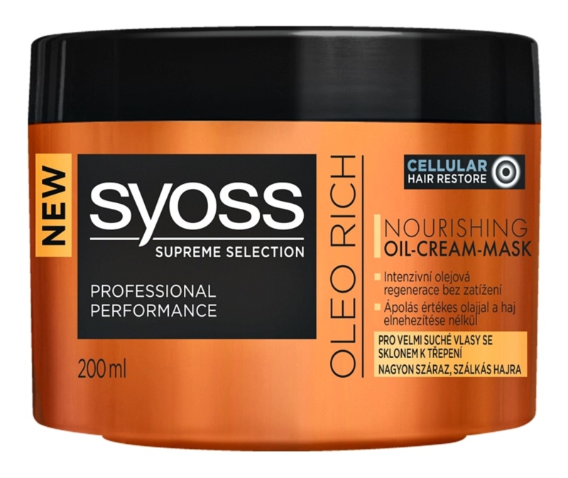 Syoss Supreme Selection Oleo Rich máscara capilar nutritiva