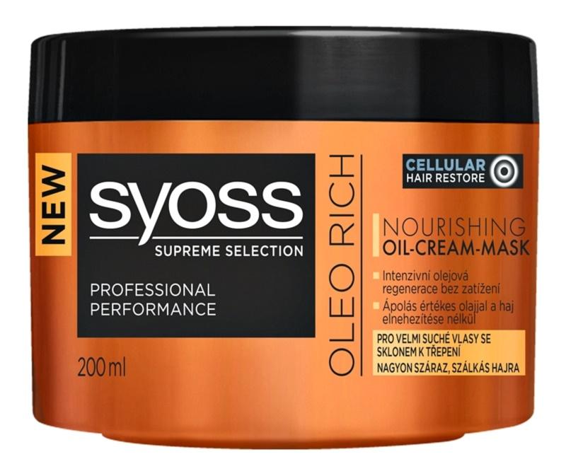 Syoss Supreme Selection Oleo Rich подхранваща маска за коса