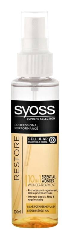 Syoss Supreme Selection Restore sérum pre silne poškodené vlasy