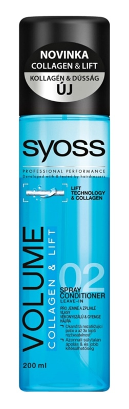 Syoss Volume Collagen & Lift condicionador em spray