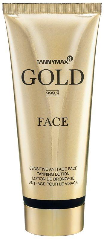 Tannymaxx Gold 999,9 creme facial  para acelerar o bronzeado