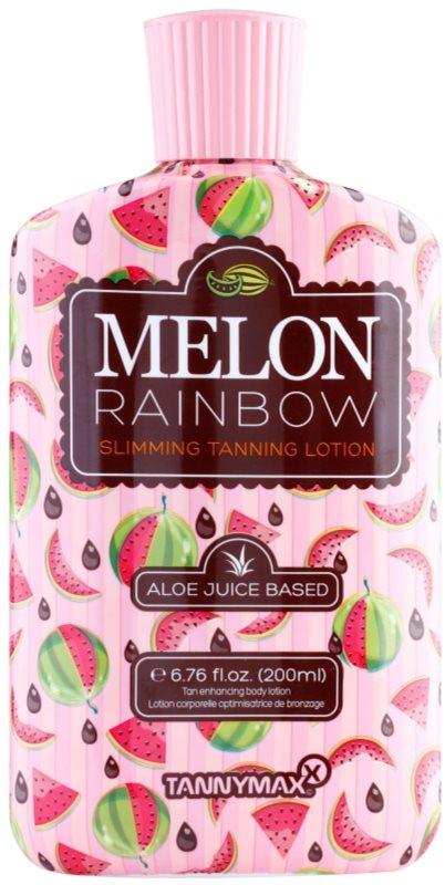 Tannymaxx 6th Sense Melon Rainbow loção de emagrecimento para um bonzeamento escuro de solário