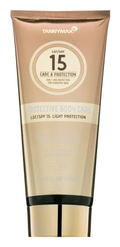 Tannymaxx Protective Body Care SPF водостійке молочко для засмаги SPF 15