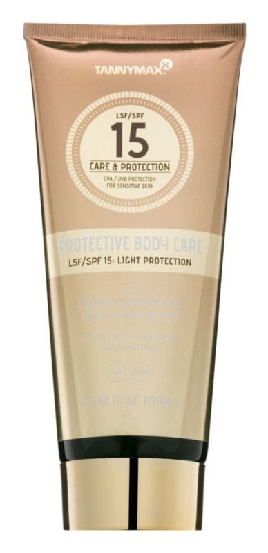 Tannymaxx Protective Body Care SPF водостійке молочко для засмаги SPF15