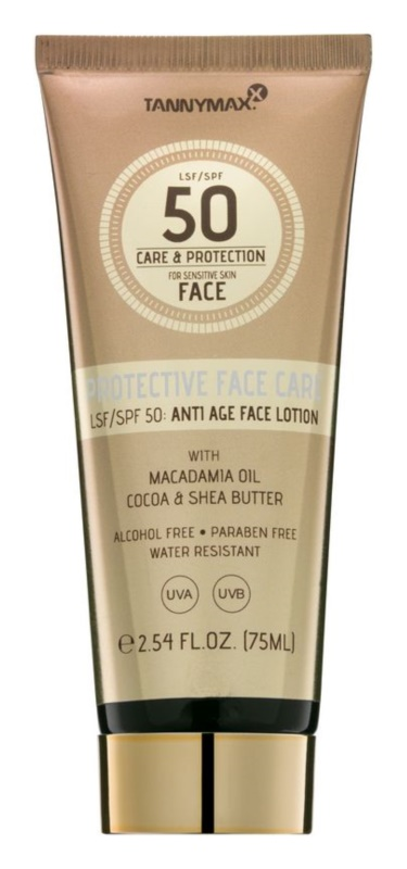 Tannymaxx Protective Body Care SPF protetor solar à prova d'água para o rosto SPF 50