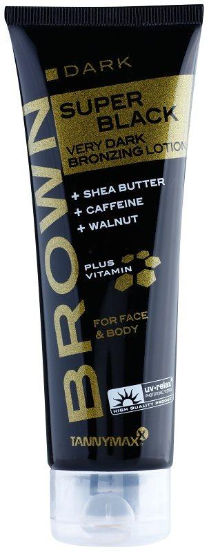 Tannymaxx Brown Super Black creme de bronzeamento para solário