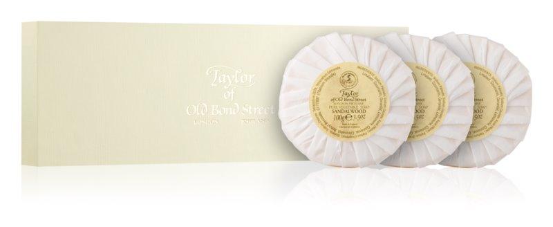 Taylor of Old Bond Street Sandalwood sada luxusných hydratačných mydiel