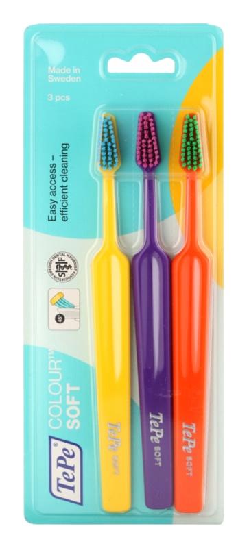 TePe Colour Soft szczoteczki do zębów 3 szt.