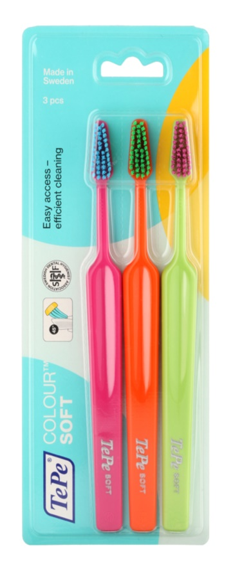 TePe Colour Soft spazzolini da denti 3 pz