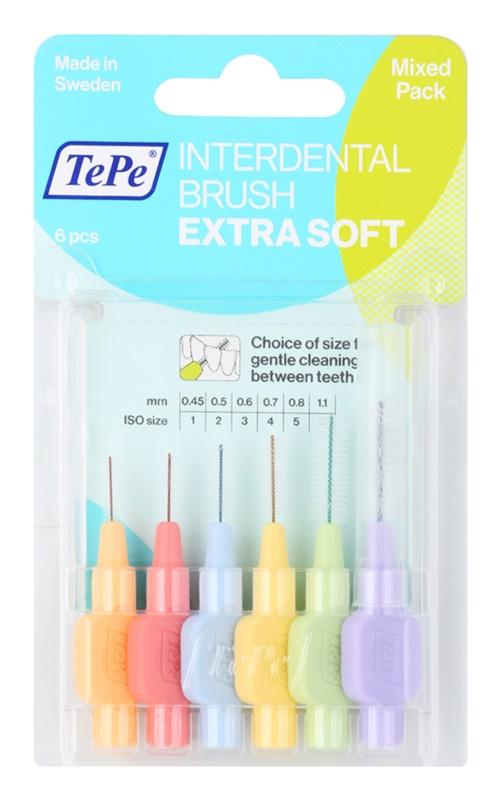 TePe Extra Soft escova interdental com 8 pcs mix