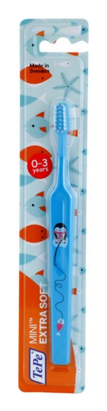 TePe Mini Illustration Kinderzahnbürste mit verkleinertem konischen Bürstenkopf extra soft