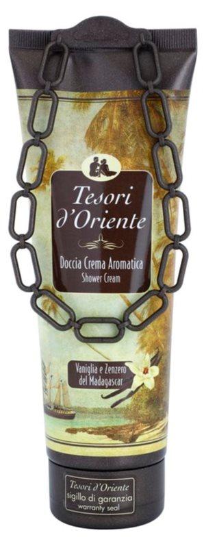 Tesori d'Oriente Vanilla & Ginger of Madagaskar gel doccia per donna 250 ml