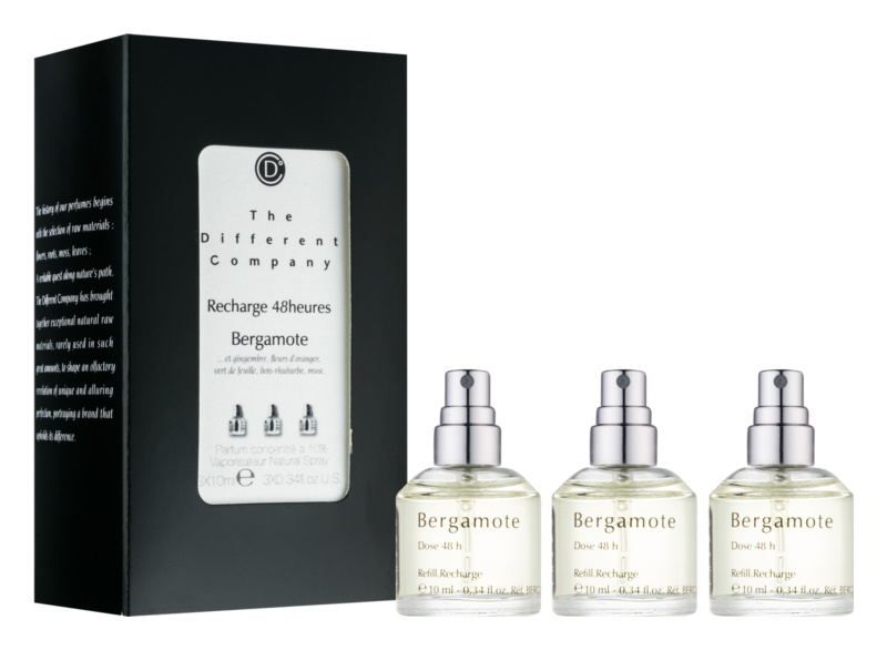 The Different Company Bergamote Eau de Toilette for Women 3 x 10 ml (3x Refill with Vaporiser)