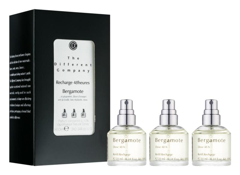 The Different Company Bergamote toaletní voda pro ženy 3 x 10 ml (3x náplň s rozprašovačem)