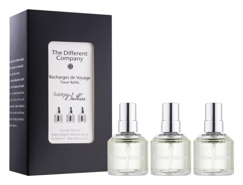 The Different Company Sublime Balkiss eau de parfum unisex 3 x 10 ml (3x utántöltő szórófejjel)