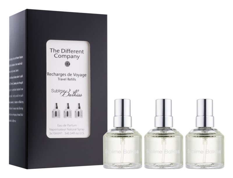 The Different Company Sublime Balkiss woda perfumowana unisex 3 x 10 ml (3x uzupełnienie z atomizerem)