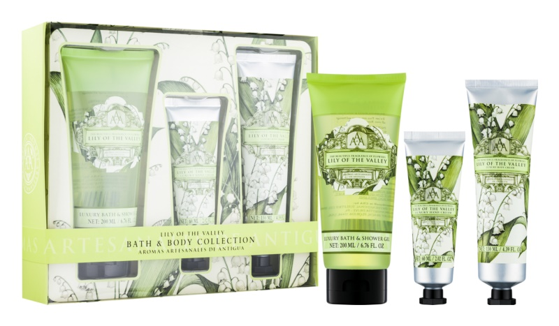 The Somerset Toiletry Co. Lily of the Valley Cosmetic Set I.
