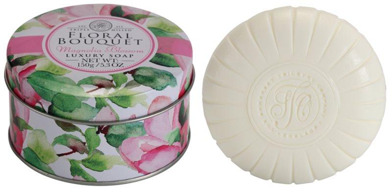 The Somerset Toiletry Co. Floral Bouquet Magnolia Blossom luxusní tuhé mýdlo