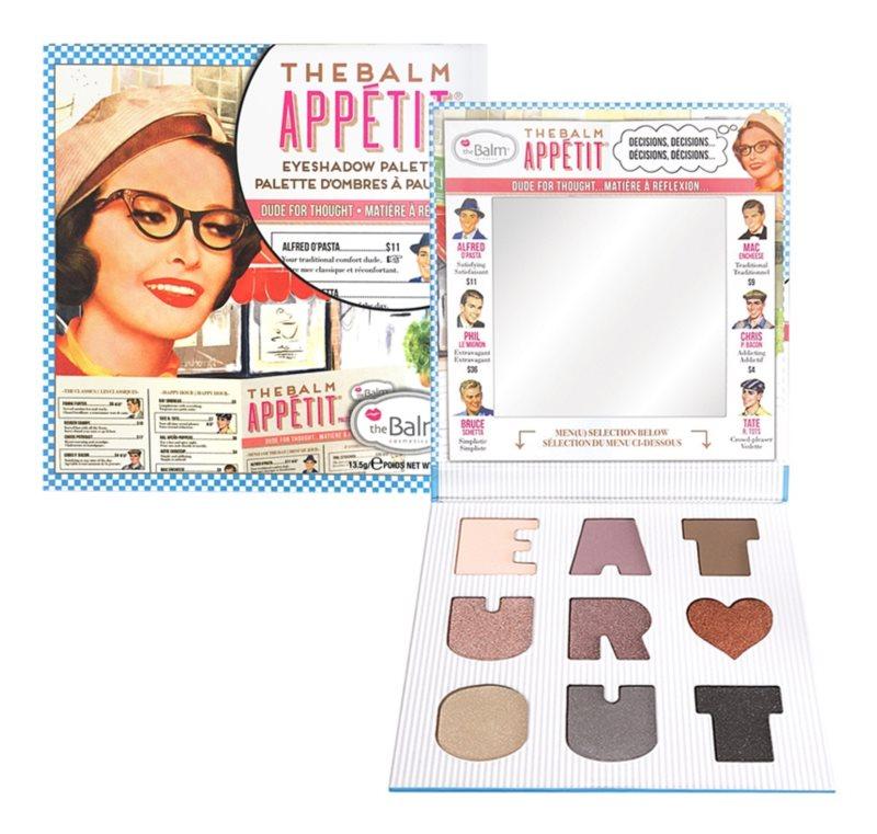 theBalm Appétit paleta očných tieňov so zrkadielkom