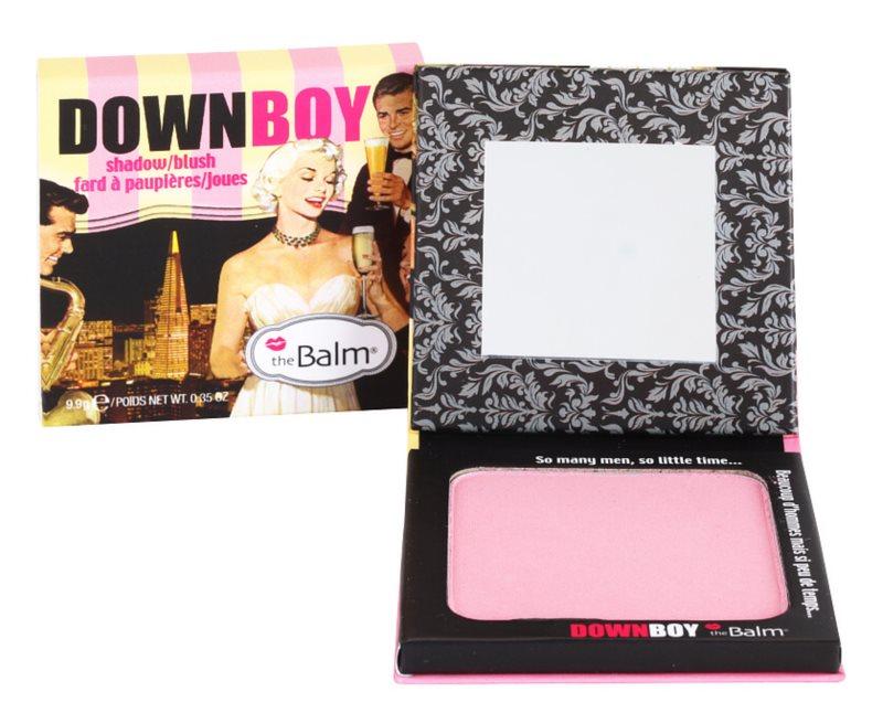 theBalm DownBoy blush e sombras em um