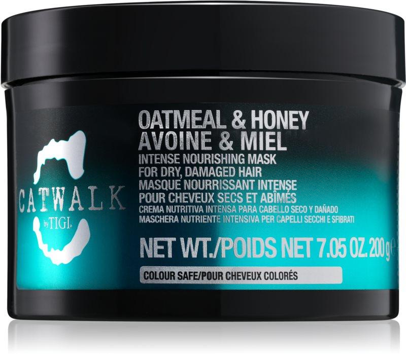 TIGI Catwalk Oatmeal & Honey mascarilla nutritiva intensiva para cabello seco y dañado