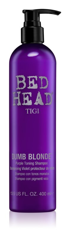 TIGI Bed Head Dumb Blonde purple toning shampoo For Blonde Hair