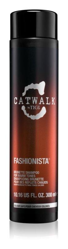TIGI Catwalk Fashionista champô para cabelos com tons quentes de castanho