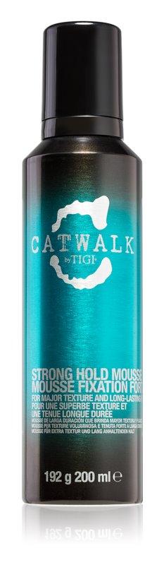 TIGI Catwalk Curlesque mousse fixação forte