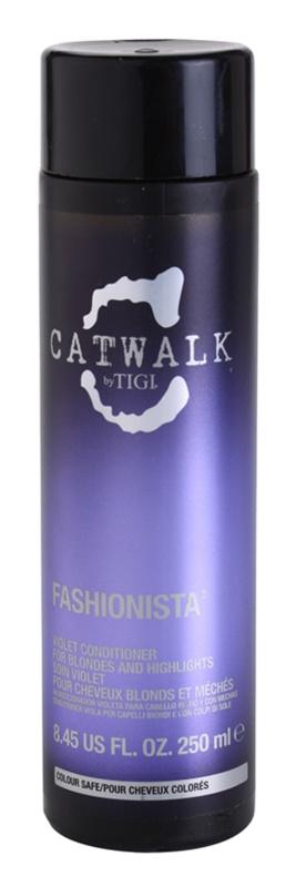 TIGI Catwalk Fashionista vijoličen balzam za blond lase in lase s prameni