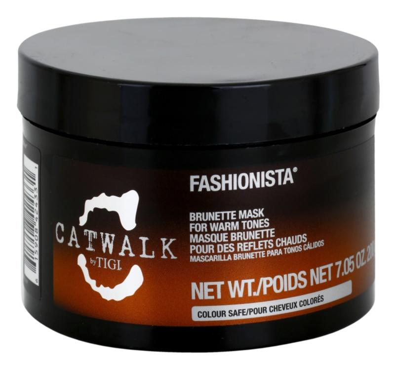 TIGI Catwalk Fashionista maska pre teplé odtiene hnedých vlasov