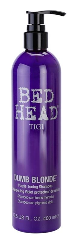 TIGI Bed Head Dumb Blonde lila tonizáló sampon szőke hajra