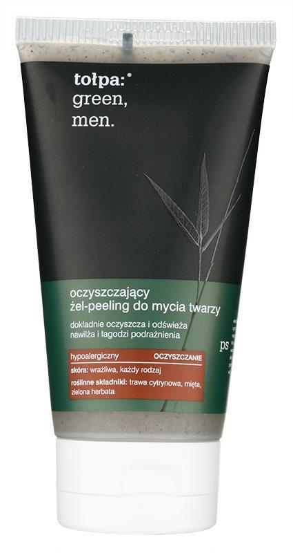 Tołpa Green Men gel esfoliante de limpeza com efeito hidratante