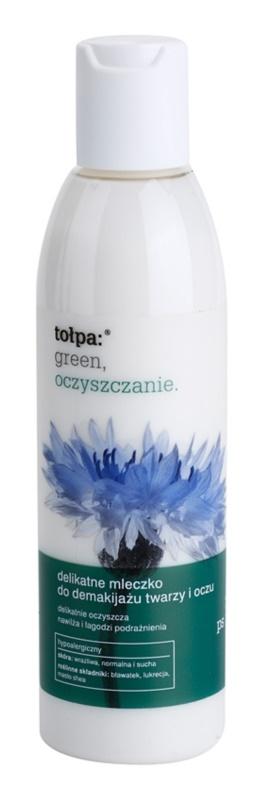 Tołpa Green Cleaning delikatne mleczko oczyszczające do twarzy i okolic oczu