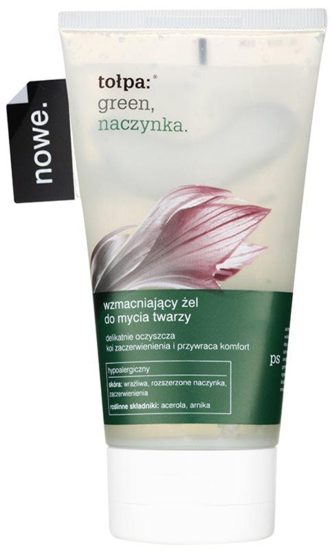 Tołpa Green Capillary posilující čisticí gel pro citlivou a zarudlou pleť