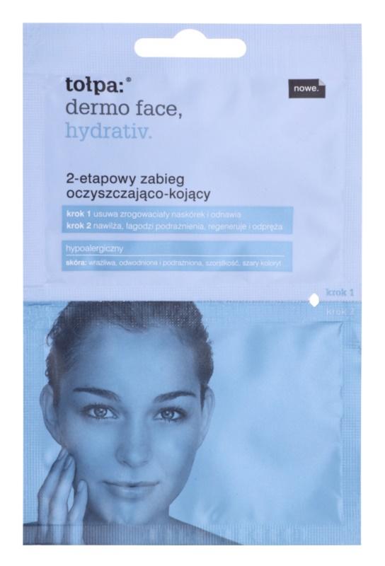 Tołpa Dermo Face Hydrativ Reinigung und Beruhigung der Haut in zwei Schritten