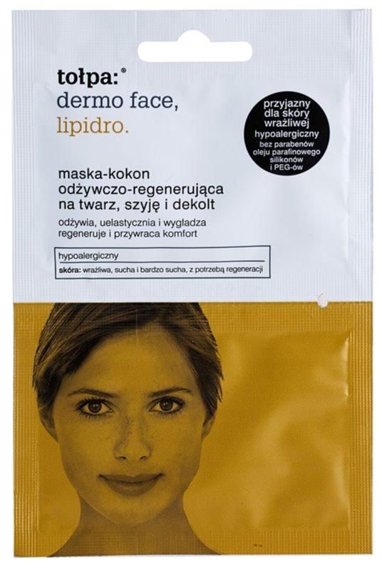 Tołpa Dermo Face Lipidro máscara regeneradora para rosto, pescoço e decote