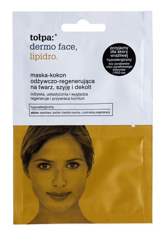 Tołpa Dermo Face Lipidro regenerační maska na obličej, krk a dekolt