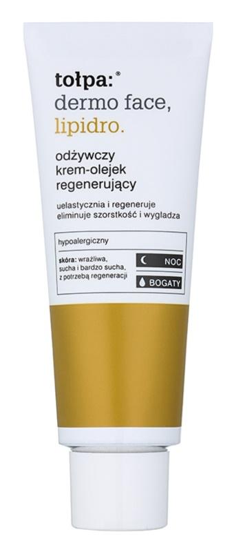 Tołpa Dermo Face Lipidro crema de noche nutritiva  con efecto regenerador
