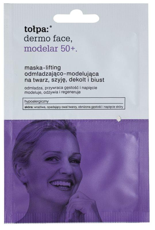Tołpa Dermo Face Modelar 50+ máscara de efeito lifting para rosto, pescoço e decote