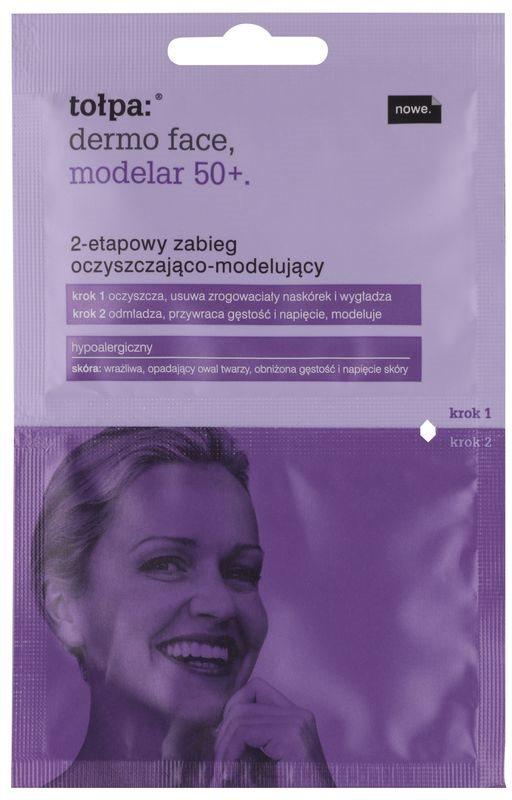 Tołpa Dermo Face Modelar 50+ tratamiento de limpieza y remodelación del rostro en dos pasos