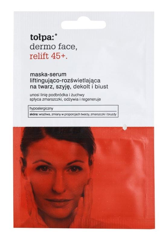 Tołpa Dermo Face Relift 45+ mascarilla iluminadora con efecto lifting