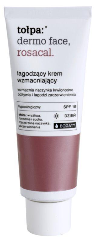 Tołpa Dermo Face Rosacal creme calmante rico anti-vermelhidão SPF 10
