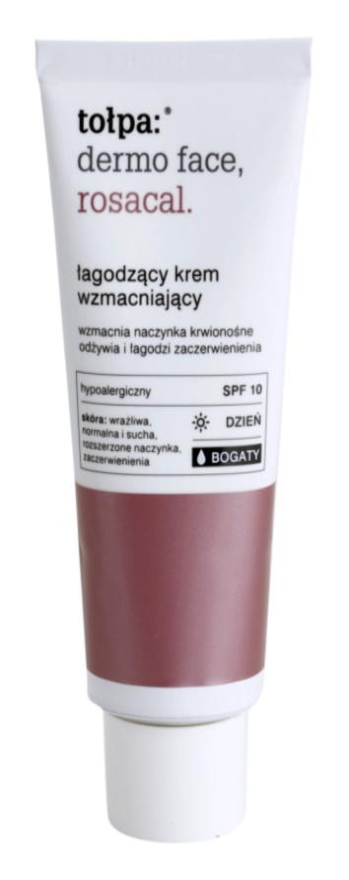 Tołpa Dermo Face Rosacal reichhaltige beruhigende Creme gegen Errötung SPF 10