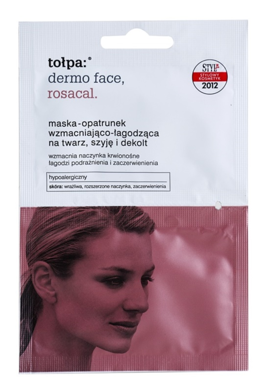 Tołpa Dermo Face Rosacal zklidňující maska pro zarudlou a podrážděnou pleť na obličej, krk a dekolt