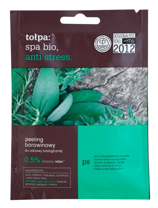 Tołpa Spa Bio Anti Stress пілінг для тіла з торфом